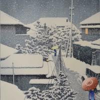 巴水 代地 雪